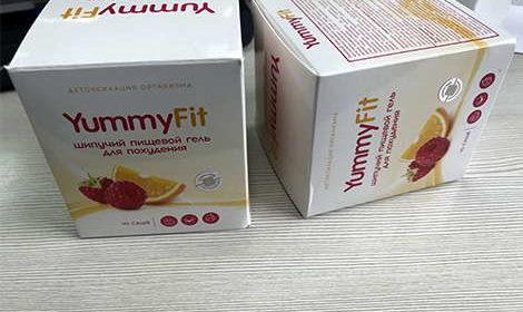 Упаковка yummyfit для похудения на столе