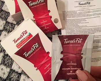 Саше и упаковка препарата tonusfit для похудения
