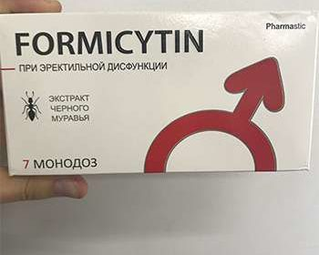 Препарат Формицитин в руках мужчины