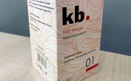Внешний вид упаковки Keto Beauty крупным планом.